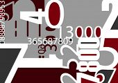 Background with numbers. Vector illustration.