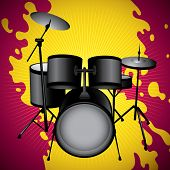 foto of drum-set  - Stylized illustration of drum set - JPG