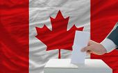 Man Voting On Elections In Canada