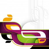 Designed layout with modern abstract forms. Vector illustration.