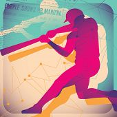 illustrierte Baseball Poster. Vektor-Illustration.