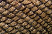 Wicker Or Rattan Basket Texture. Basket For Straw. High-resolution Seamless Texture. Horizontal Phot poster