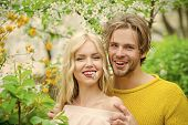 Man And Woman In Spring, Easter. Love And Romance, Relationship, Happy Couple. Sensual Woman And Man poster