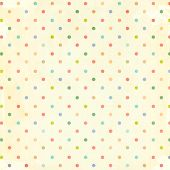 Retro pattern with dots in shabby chic style and paper texture poster