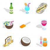 Vitamin Deficiency Icons Set. Isometric Set Of 9 Vitamin Deficiency Icons For Web Isolated On White  poster