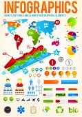 image of pie-chart  - Colorful infographic vector collection with charts - JPG