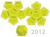 stock photo of dodecahedron  - Dodecahedron calendar - JPG