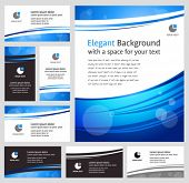 Abstract blue business backgrounds and cards - templates collection