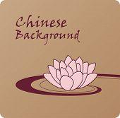 Постер, плакат: Традиционный китайский фон с lotus