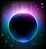 picture of planetarium  - vector eclipse - JPG