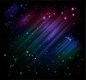 foto of starry sky  - vector northern lights and night starry sky - JPG