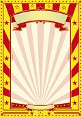 stock photo of school carnival  - yellow and red circus poster A red and yellow retro poster for your advertising - JPG
