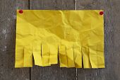 Blank Yellow Paper With Tear Off Tabs poster
