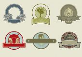 picture of taupe  - Cool round labels - JPG