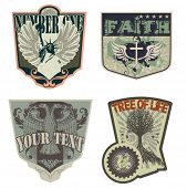 Rock 'n' roll labels/badges