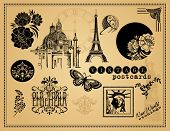 foto of brocade  - Vintage Etchings and Design Elements - JPG