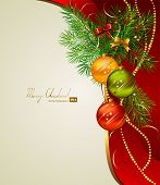 picture of christmas ornament  - Christmas background with three evening balls - JPG