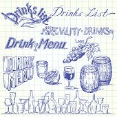 image of wine bottle  - drink list - JPG