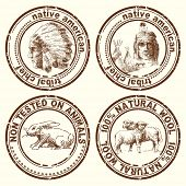 foto of wigwams  - stamps - JPG