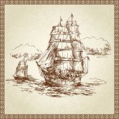 pic of brig  - sailing ship - JPG