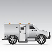 image of armored car  - Armored truck vector - JPG
