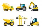 stock photo of bulldozers  - Building machines  - JPG