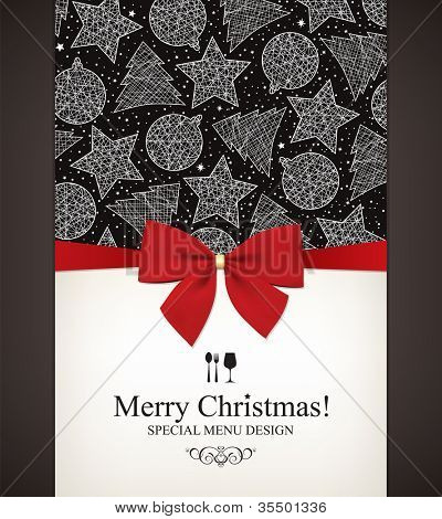 Special Christmas menu design