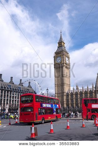 Taxi And Bus In London
