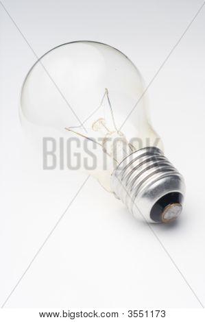 Light Bulb Isolated Over White