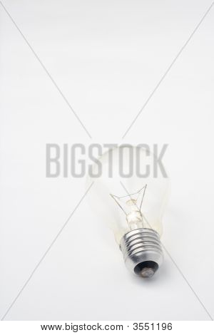 Light Bulb Isolated Over White Background