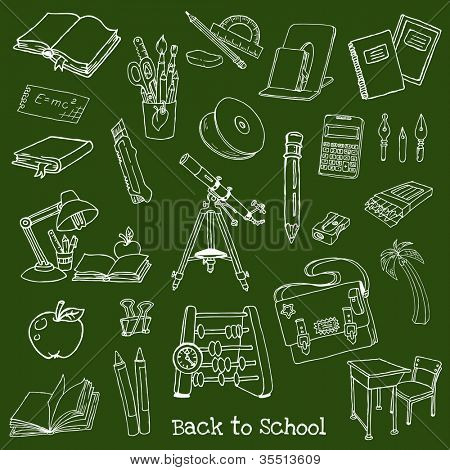 Back to School Doodles - Hand-Drawn Vector Illustration Design Elements (part 1)