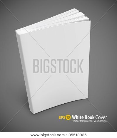 blank book cover vector illustration gradient mesh used EPS10. Transparent objects used for shadows and lights drawing.