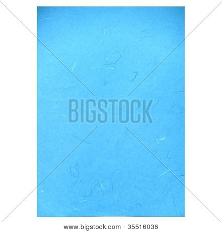 Blue Rice Paper Texture On White Background