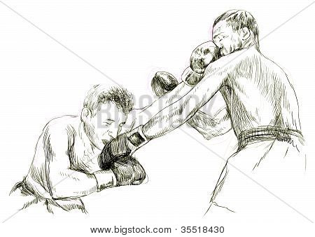 topic of sports: boxing match