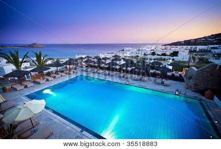 Beautiful resort in the Greek Islands
