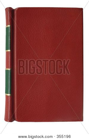 Red, Leather,bound Book Cover.