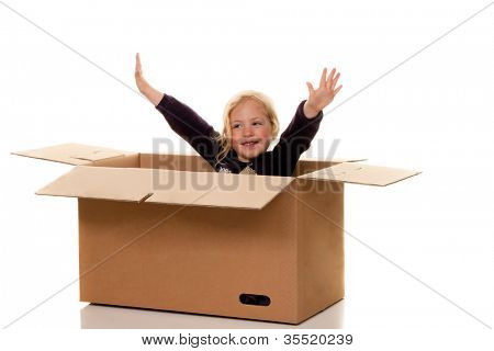 child in moving box. if the move to box.