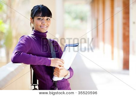 female indian college student portrait