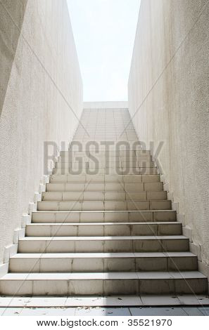 Long stairs with many steps