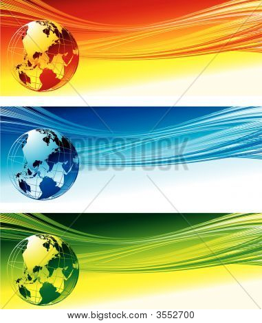 Color Globe Background