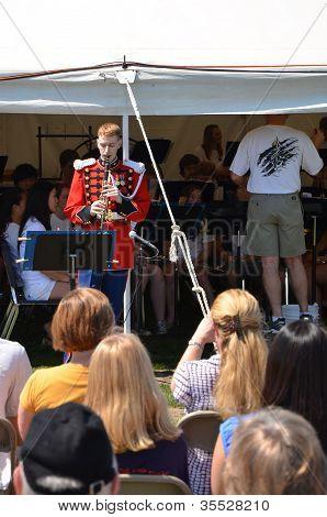 Usmb clarinetista piquenique aparece