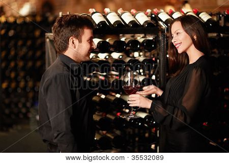 Sommelier offers wine tasting