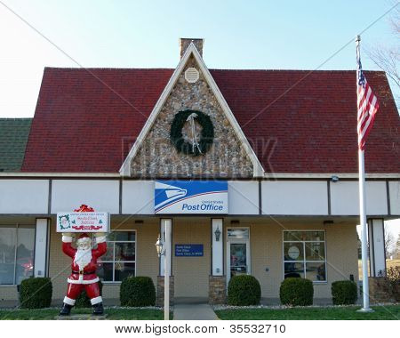 Santa Clause Indiana US Post Office