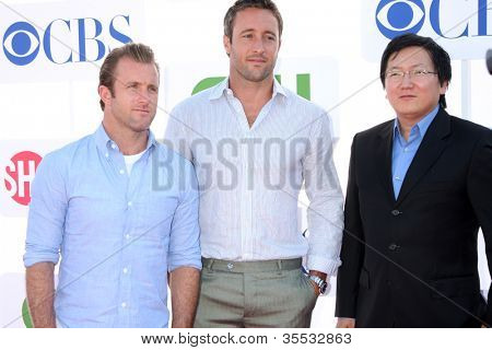 LOS ANGELES - JUL 29:  Scott Caan, Alex O'Loughlin, Masi Oka arrives at the CBS, CW, and Showtime 2012 Summer TCA party at Beverly Hilton Hotel Parking Lot on July 29, 2012 in Beverly Hills, CA