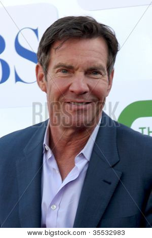 LOS ANGELES - JUL 29:  Dennis Quaid arrives at the CBS, CW, and Showtime 2012 Summer TCA party at Beverly Hilton Hotel Adjacent Parking Lot on July 29, 2012 in Beverly Hills, CA