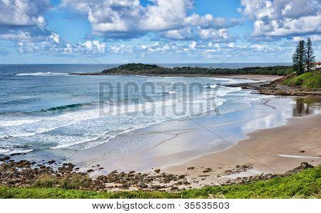 photo of the beach at yamba nsw australia
