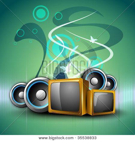 kreative Hintergrund mit Unterhaltung-Objekten. EPS 10.