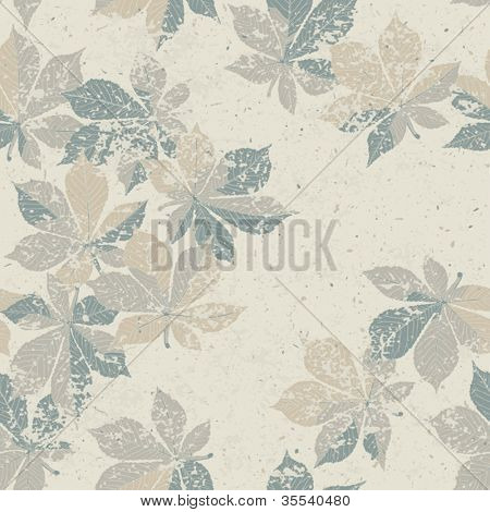 Autumn nature themed seamless pattern, vector, EPS10