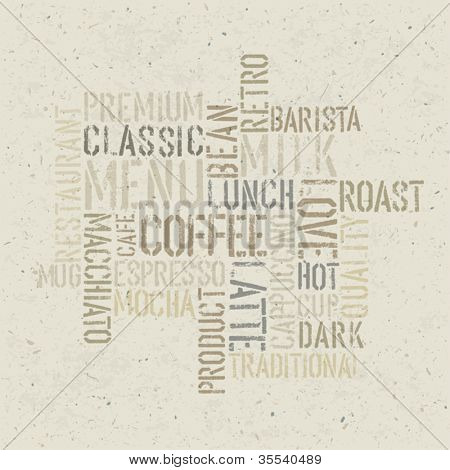 Coffee themed poster design template. Vector, EPS10