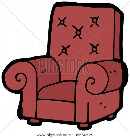 cartoon armchair